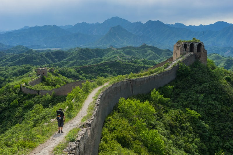 Great wall of china camping