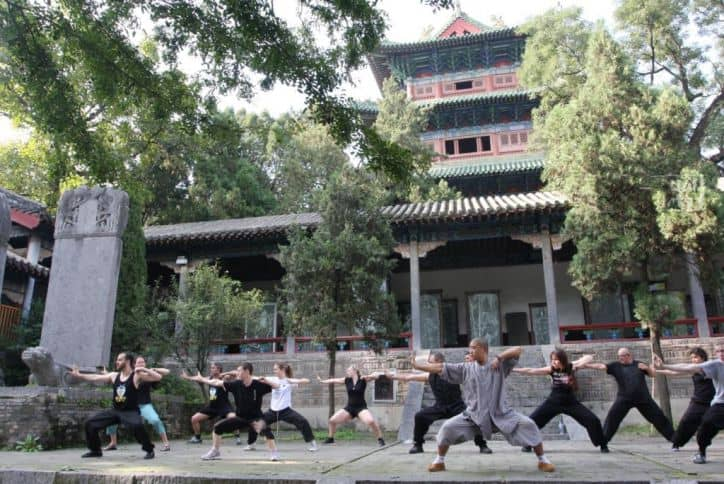 Shaolin Temple group training