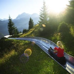 'Toboggan' Run Down The Swiss Alps On A Roller Coaster!