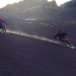 WATCH: Skiing Down An Active Volcano In The Summer !