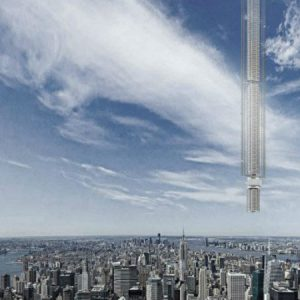 Live out your sci-fi dreams in this skyscraper suspended from an asteroid