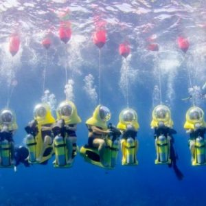 Scuba Doo: A whole new way to dive into the ocean's blues!
