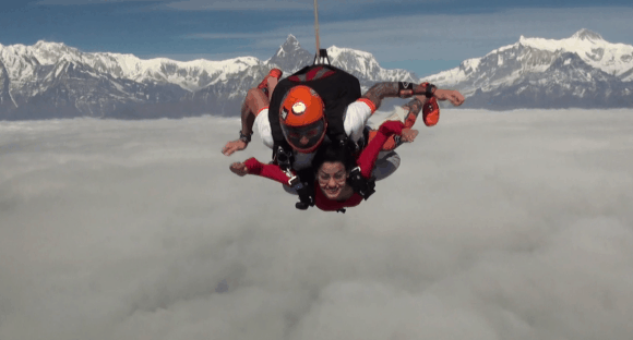 Skydiving Over The Himalayas In Nepal