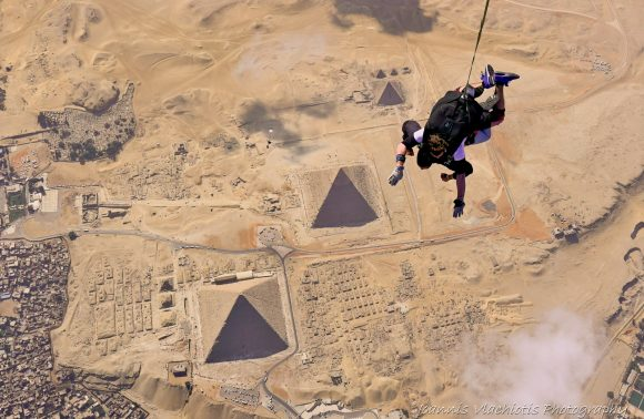 Skydive Over The Pyramids of Egypt